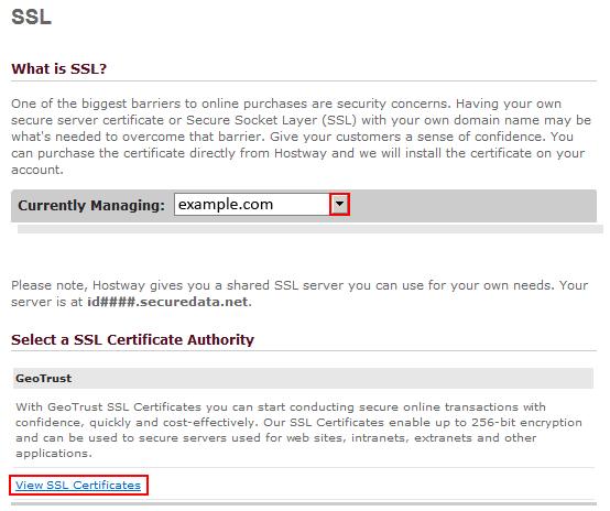 How to Order an SSL Certificate – Hostway Help Center