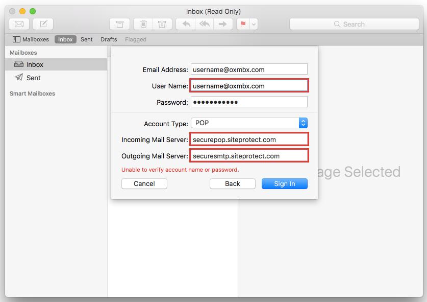 Configure Apple Mail (Mac Mail) – Hostway Help Center