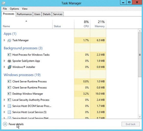 View Processes Running On Windows Server