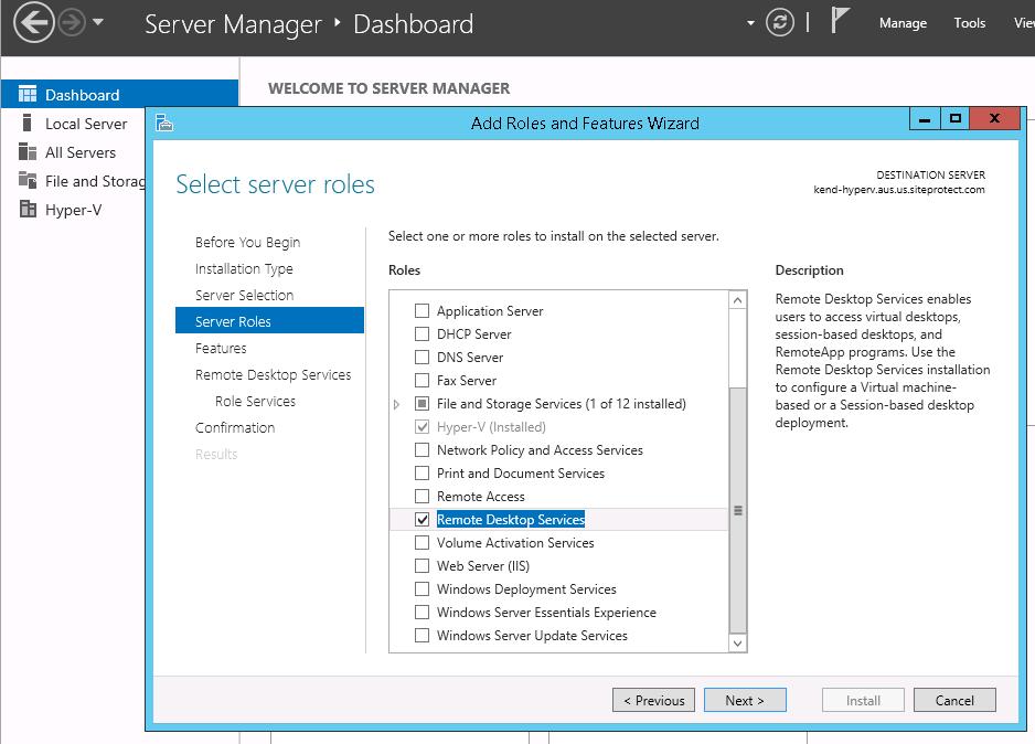 Remote Desktop Services For Windows Server 2012 Hostway Help Center