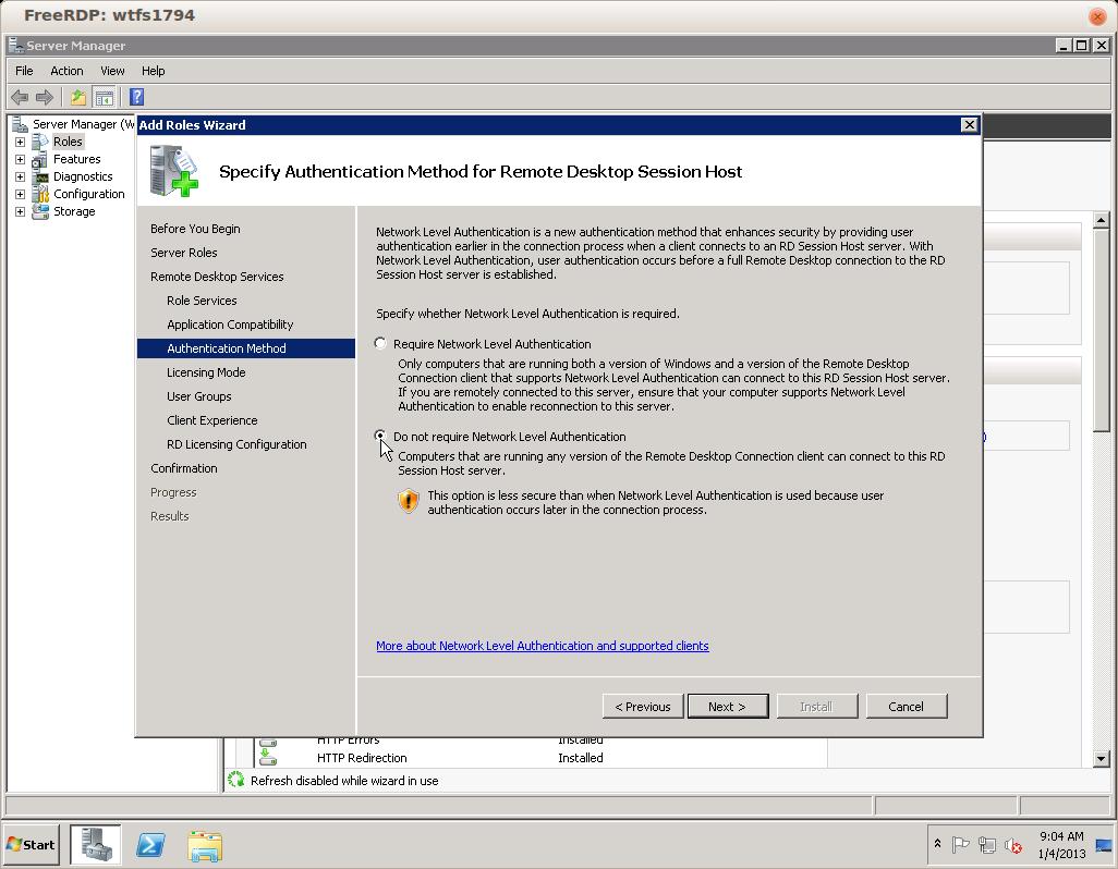 Remote Desktop Services for Windows Server 2008 – Hostway