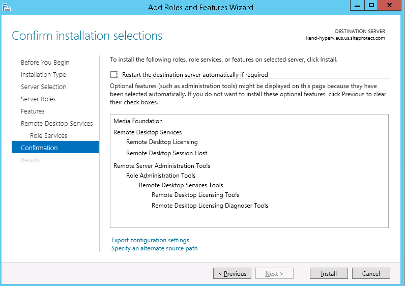 Remote Desktop Services for Windows Server 2012 – Hostway