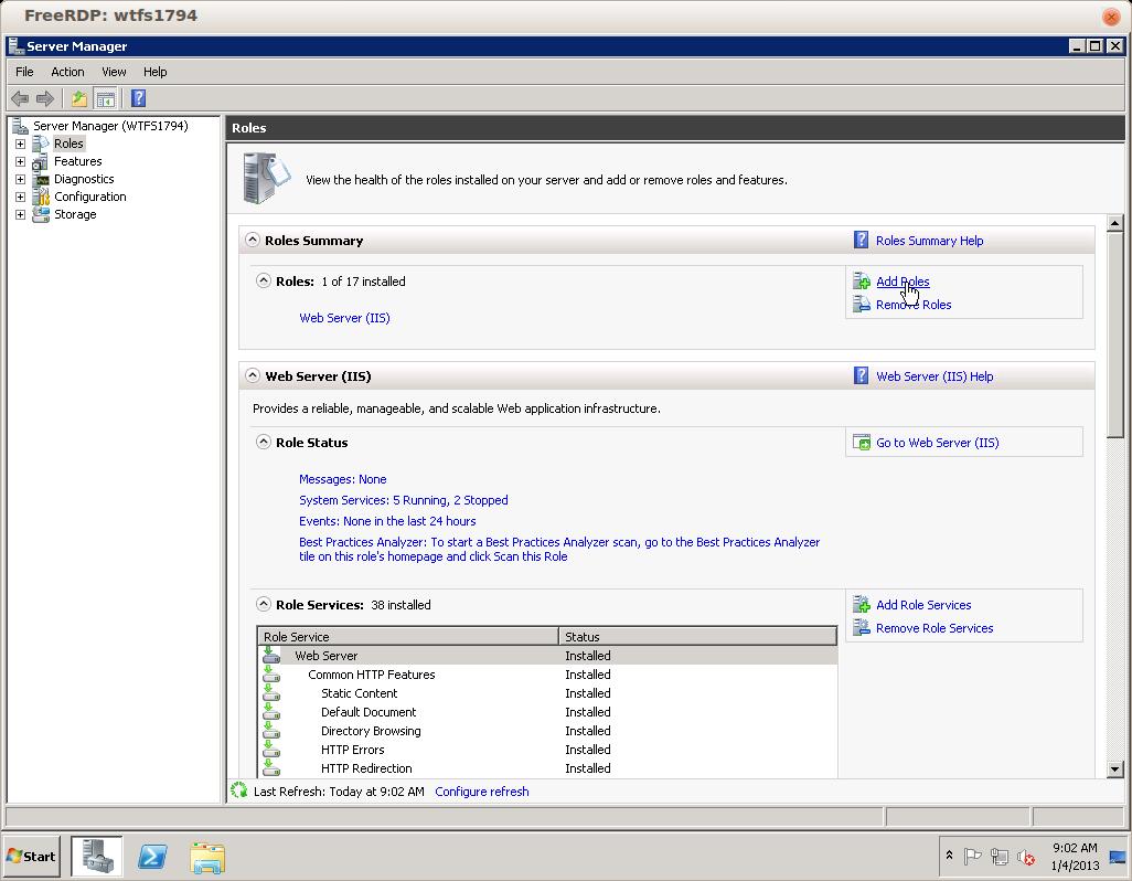 Remote Desktop Services for Windows Server 2008 – Hostway Help Center
